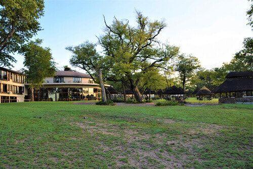 The Safari Lodge National Park exterior in Hwange.