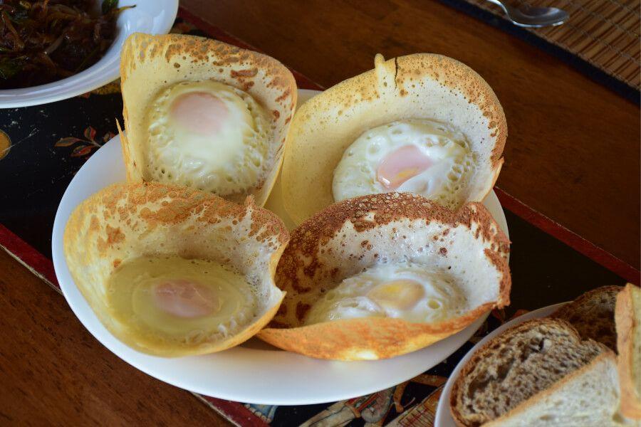Egg hopper's, a common breakfast in Sri Lanka.