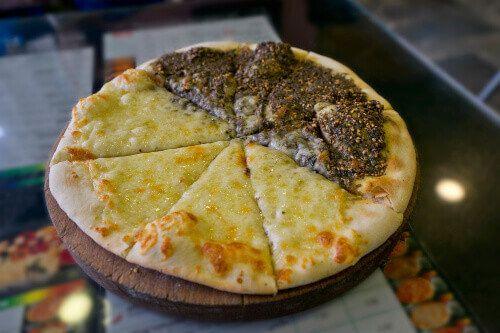 Delicious Manakeesh Pizza in Amman.