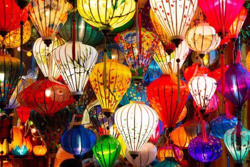 Hoi An lanterns for sale in Vietnam.