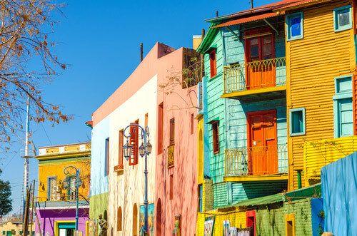 Photo 2: Caminito Street in La Boca, Buenos Aires.