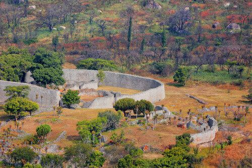 Ruins of the Great Zimbabwe National Monument in Masvingo.