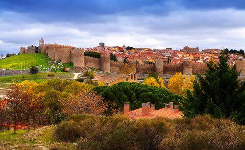 The Avila medieval city walls.