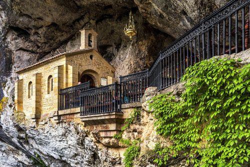 The holy cave of Santa Cueva de Convadonga.