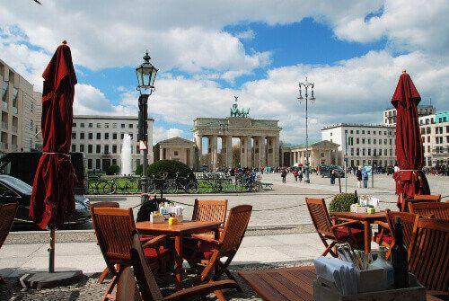 Brandenburg Gate in west Berlin.