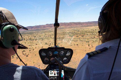 A helicopter enjoys a ride through Kings Canyon.