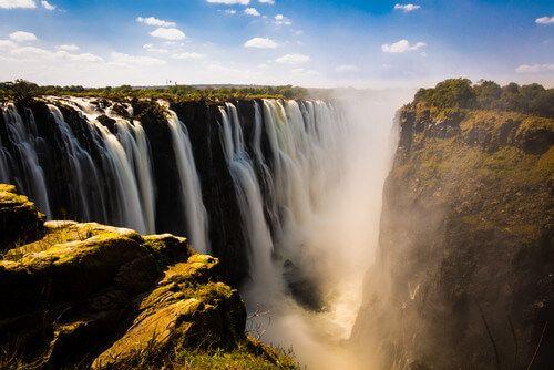 The beautiful landscapes of Victoria Falls.
