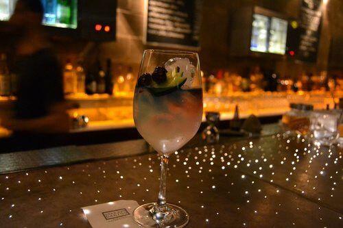 A Gran Bar Dazon with wine.
