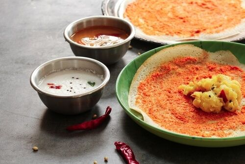 A Mysore specialty, masala dosa is a beloved dish in South India.