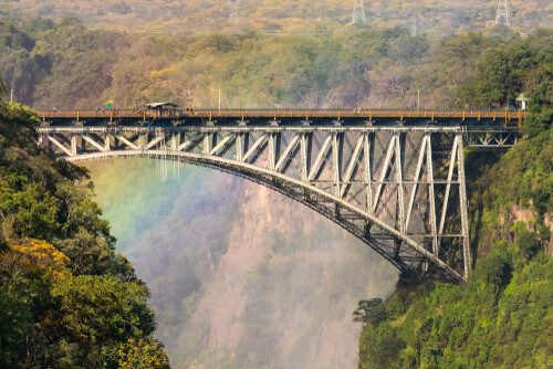 A bridge at Victoria Falls.