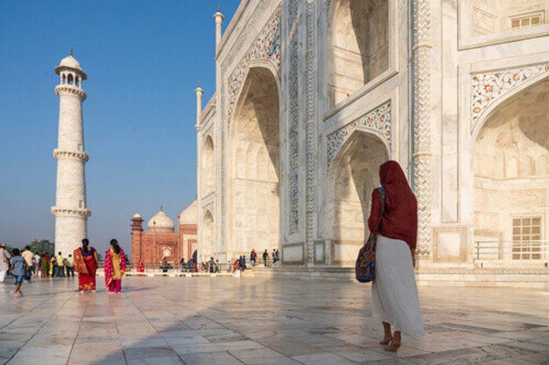The inside of the Taj Mahal in Agra, India.