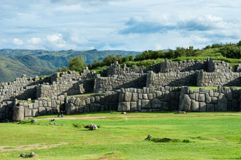 The ruins of Sacsayhuaman in Cuzco