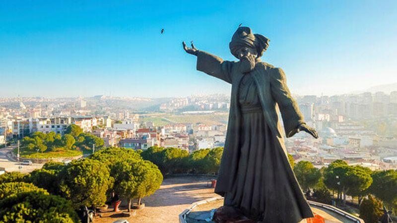 Rumi Statue in Izmir, Turkey.