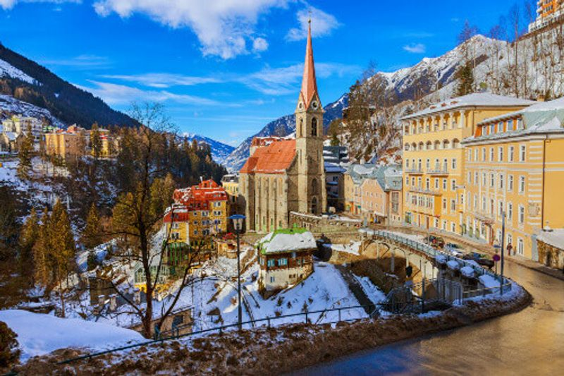 The picturesque mountain ski resort of Bad Gastein.