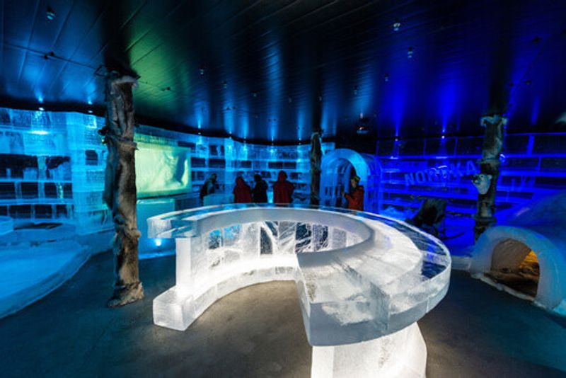 The unique Artico Ice Bar in Honningsvag, Norway.