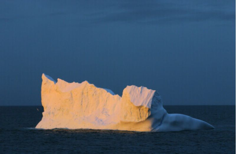 An iceberg in the Drake Passage, Antactica.