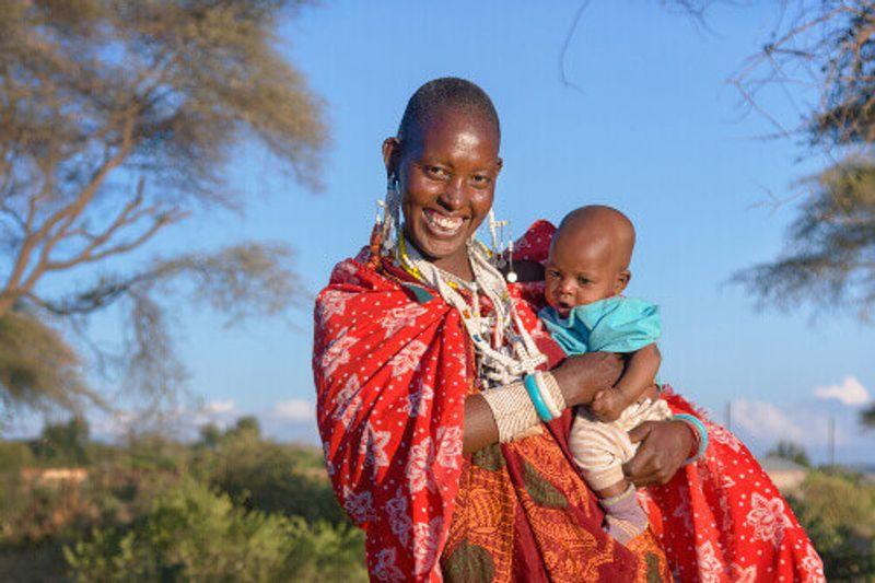 A local woman of the Maasai tribe in Tanzania.