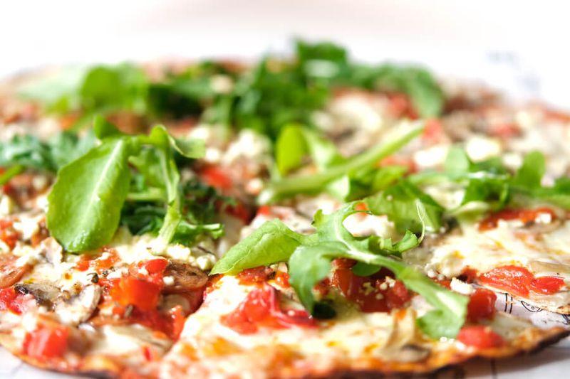 Prosciutto Pizza at Route 44,  a popular restaurant in Stellenbosch.