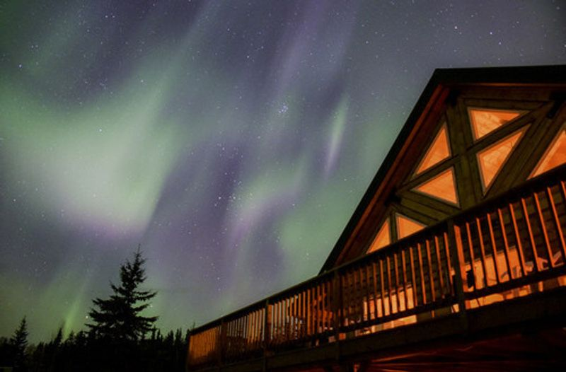 Northern Lights on show in Fairbanks.