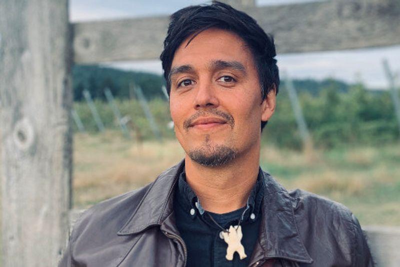 Simon Lynge, a rock musician from Greenland.