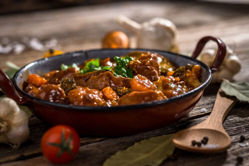 Beef Bouguignon is a much loved traditional French dish.