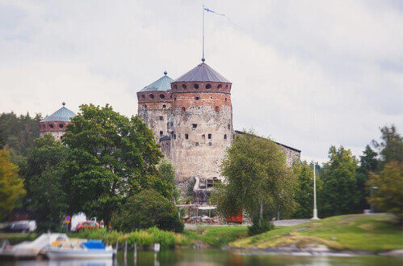The historic St. Olafs Castle in Savonlinna, Finland.