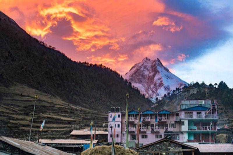 The picturesque Manaslu Circuit, Nepal.