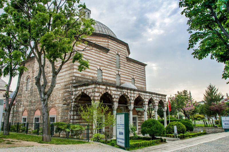 The Hurrem Sultan Bathhouse in the Sultanahmet Fatih District.
