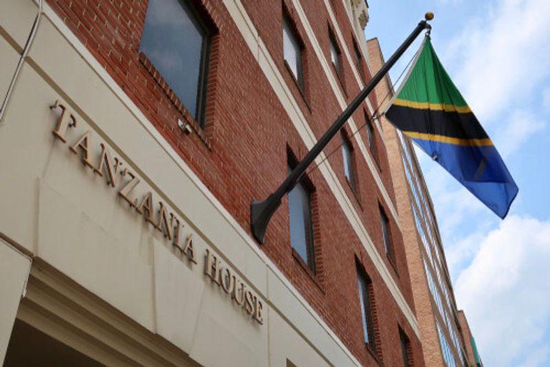 The Tanzanian Consulate building.