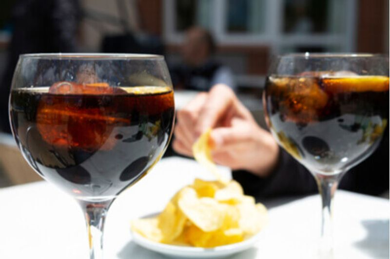Vermut with tapas in Spain.